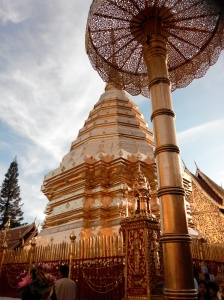 At the temple on Doi Suthep