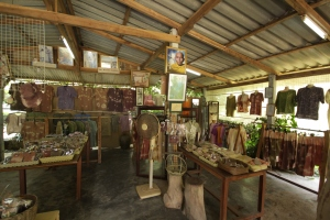 All of the clothes in this shop are handmade, one of a kind, and were dyed with local fruits.